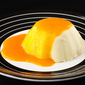 Orange Buttermilk Panna Cotta with Mango Sauce