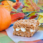 Caramel Filled Pumpkin Spice Rice Krispie Treats