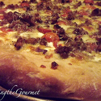 Fresh Garden Sauce Pizza with Sausage!!!