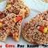 Candy Corn Rice Krispie Treats {Happy Halloween}