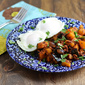 Pear, Butternut Squash and Chorizo Hash
