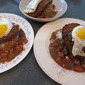 #166 Hawaiian Fast Food Burger on Rice or Loco Moco