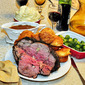 Chipotle Rubbed Prime Rib Roast with Side Dishes