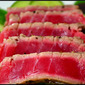 What's for lunch? Truffle Salted Ahi with Manzano and Cucumber Salad