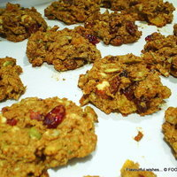 Image of Rustic Nut And Fruit Cookie Spelt Rocher Recipe, Cook Eat Share