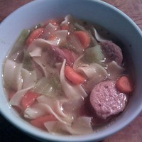 Kielbasa and Cabbage Soup in a Jiffy