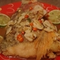 Thai Style Deep Fried Fish Head in Sour & Spicy Sauce