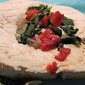 Spinach & Roasted Red Pepper Stuffed Turkey Roulade