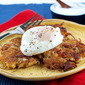 Apple Bacon Potato Cakes with Poached Eggs