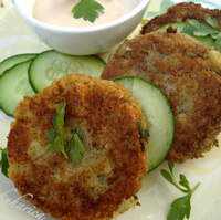Image of Alaska Pollack Fish Cakes Recipe, Cook Eat Share