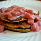 Paleo Almond Pancakes with Strawberry Coconut Syrup