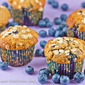 Blueberry Banana Muffins – sweetened with agave