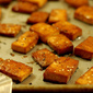 Baked Ginger Soy Tofu Squares