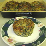 Potato Salmon Patties (with spinach)