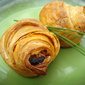 Puff pastry pesto and cheese rolls