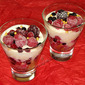 Christmas Individual Fruit and Grand Marnier Trifles