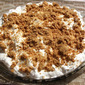 Graham Cracker Crusted Chocolate Silk Pie with Frangelico