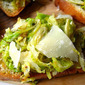 Shaved Brussels Sprouts w/ Parmesan & Truffle Oil Crostini!