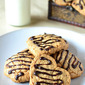 Oats & Walnut Cookies with Chocolate Drizzle - taste and goodness packed into a bite