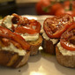 bruschetta with ricotta and oven-roasted tomato