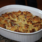 Tangy Ham and Cheese Bread Pudding