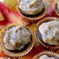 Pumpkin Mousse Cupcake Sandwiches with Pecan Frosting