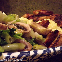 Grilled Chicken with Warm Romaine Salad & Rice!!!