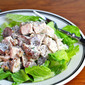 Recipe for turkey salad with grapes and walnuts