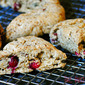 Cranberry Walnut Scones (gluten-free, fiber-friendly)