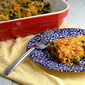 Spaghetti Squash Gratin with Chorizo and Kale