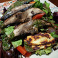 Grilled Portobello-Halloumi Salad with Basil Vinaigrette