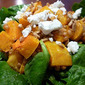 Roasted Butternut Squash and Wheat Berry Salad with Goat Cheese