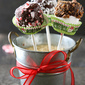 Chocolate Marshmallow Pops Recipe Three Ways: Candy Cane, Heath Bar & Coconut