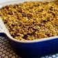 Recipe for Low-Sugar Flourless Apple Crisp made with Olive Oil