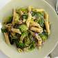 Pasta with Sautéed Brussels Sprouts