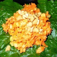 Carrot Peanut Salad or Lettuce Wrap