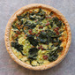 Quiche with kale and bacon