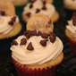 Mini Chocolate Chip Cookie Dough Cupcakes
