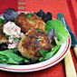 Recipe for cod cakes with red pepper, tarragon and yogurt remoulade