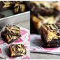 Eggnog Cheesecake Swirled Brownies