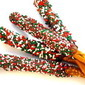 Festively Decorated Dark Chocolate Dipped Pretzel Rods