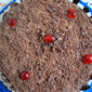 Eggless chocolate cake with chocolate cream icing