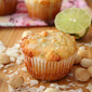 Macadamia Coconut Lime Muffins (Low Carb and Gluten Free)