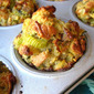 Individual Leek, Apple & Sausage Bread Puddings