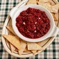 Recipe for Cranberry Salsa Cream Cheese Holiday Appetizer with Baked Whole Wheat Pita Chips