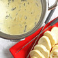 Our Version of Melting Pot's Spinach Artichoke Cheese Fondue