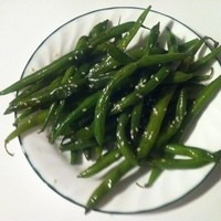 Green beans with sesame seeds: great vegan dish!