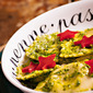 Kale and Sunflower Seed Pesto + Roasted Red Peppers Stars = Happy Holidays Pasta!
