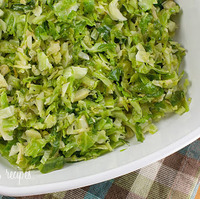 Sauteed Brussels Sprouts w/Pignoli Nuts