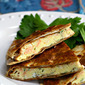 Recipe for breakfast quesadilla with smoked salmon and brie